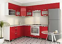 Кухня под заказ красная угловая, изготовление вариант-003, фото 1