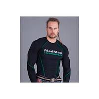 Футболка с длинным рукавом Mad Max MSW902 (Черный/зеленый)