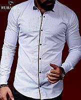 Турецкое производство! Белая мужская рубашка