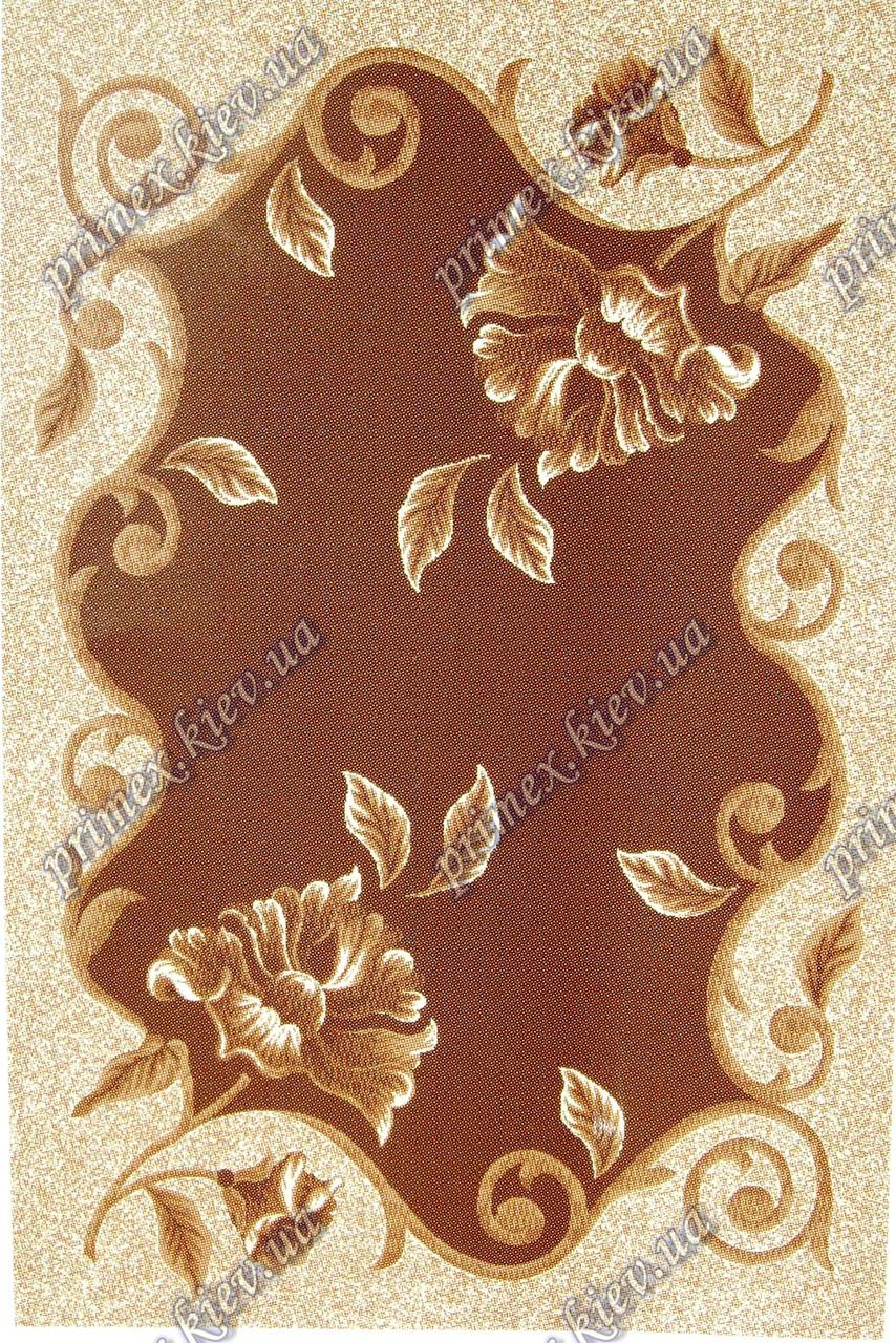 """Рельефный ковер Кадиллак """"Амелия"""", цвет коричневый"""