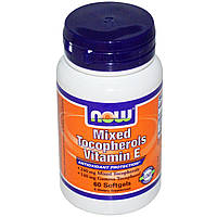 Витамины NOW Mixed Tocopherols (vitamin E) (60 порций) (60 капс)