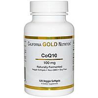 Витамины для кожи, ногтей и волос California Gold Nutrition CoQ10 (100 мг) (120 порций)