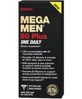 Витамины для мужчин GNC Mega Men 50 Plus One Daily (60 таб) (102013) Фирменный товар!