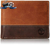 Кошелек Timberland Marlboro Two-Tone Passcase, Tan/Brown, фото 1