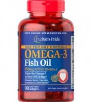 Комплекс незамінних жирних кислот Puritan's Pride Omega 3 One Per Day Formula (90 кап) (103757) Фірмовий