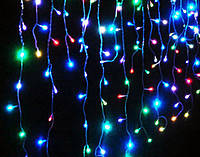 Новогодняя гирлянда штора светодиодная разноцветные лампочки, Лед декор витрин