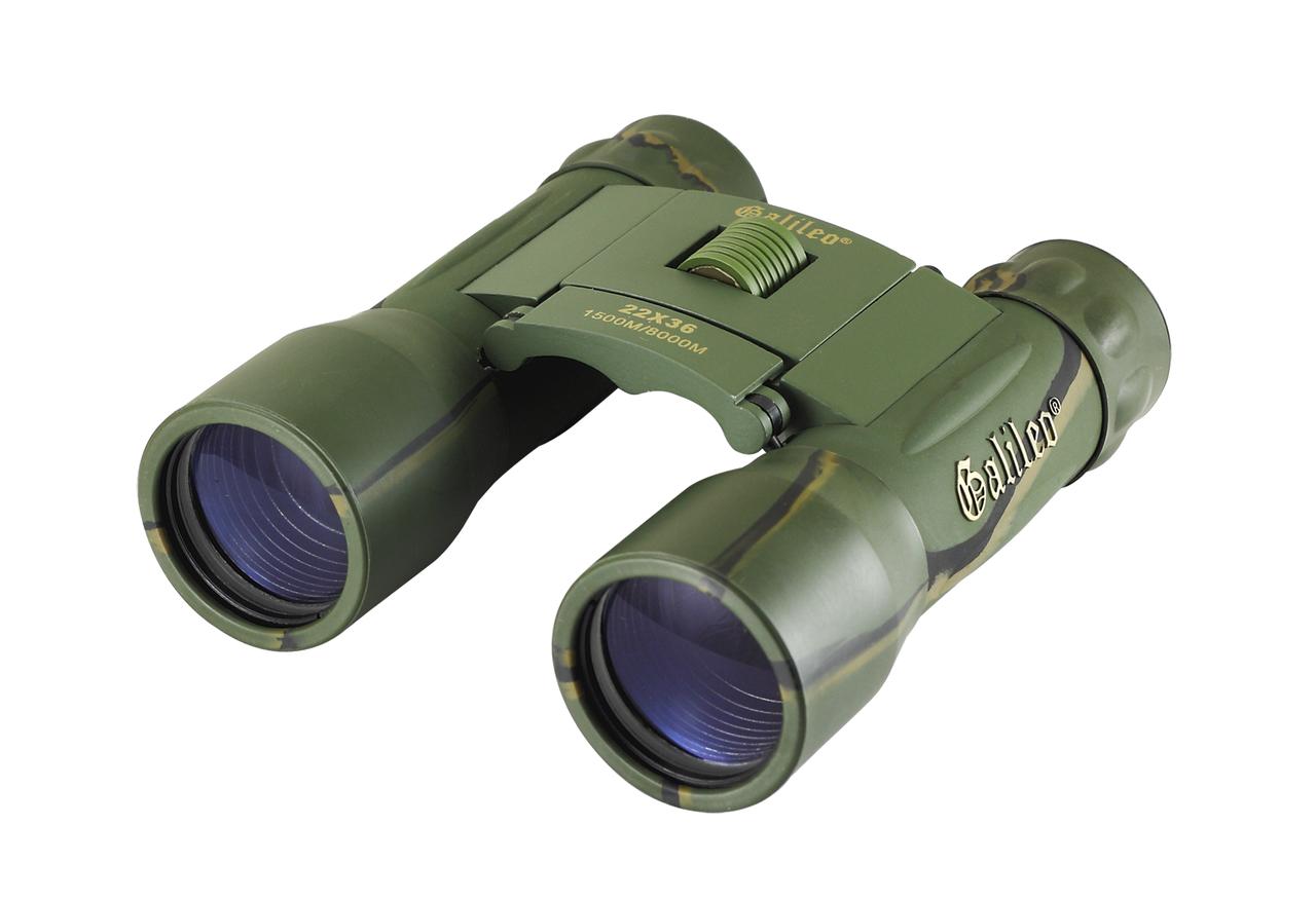 Бинокль прорезиненный 22x36 - Galileo (green)