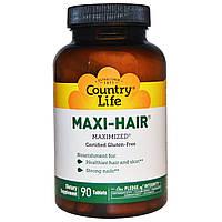 Витамины для кожи, ногтей и волос Country Life Maxi-Hair (90 таб)