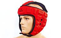Шлем для борьбы EVA+PU ZEL MA-4539-R (красный, р-р M-XL)