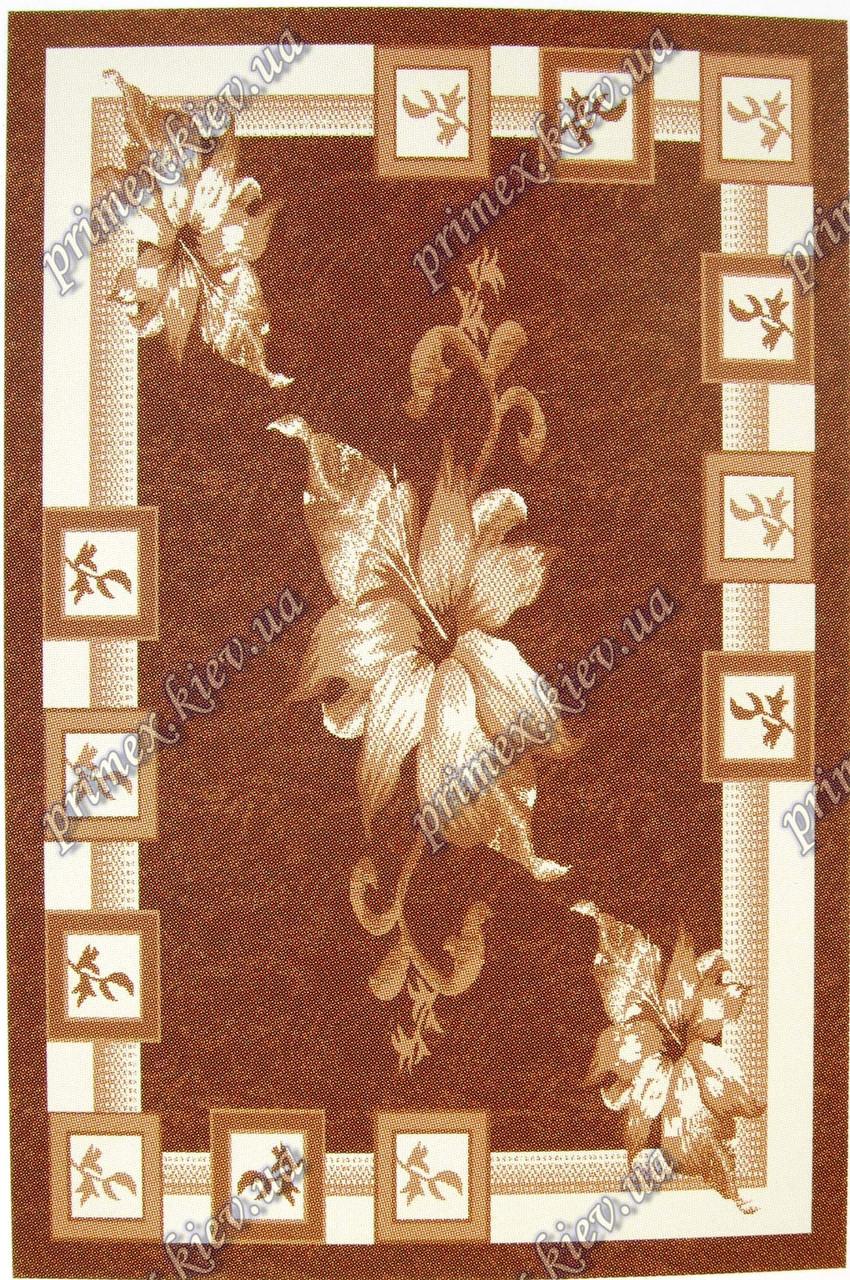 """Рельефный ковер Кадиллак """"Лола"""", цвет коричневый"""