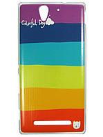 Чехол с рисунком для Sony Xperia C3 d2502 d2533 Пластмасса, Для телефона, 7, Sony, Без застежки