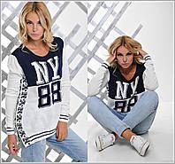 Стильный женский свитер с рисунком NY 88
