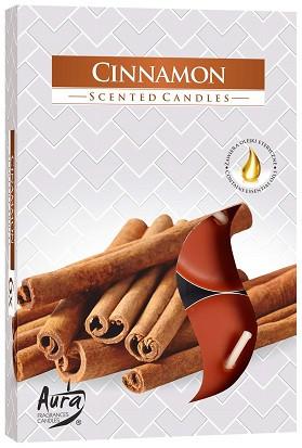 Свеча чайная ароматизированная Bispol Корица 1.5 см 6 шт (p15-65)