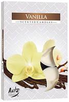 Свеча чайная ароматизированная Bispol Ваниль 1.5 см 6 шт (p15-67)