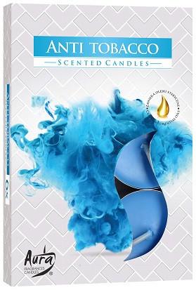 Свеча чайная ароматизированная Bispol Антитабак 1.5 см 6 шт (p15-69)
