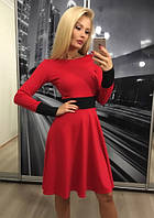 Стильное женское платье, красное