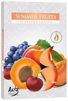 Свечи  ароматизированные фрукты чайные таблетки