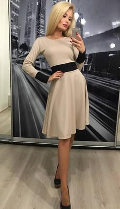 Стильное женское платье в ретро стиле ft-305 бежевое, фото 2