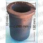 Тигель MU- 400 графитовый, 400 куб.см, INDUTHERM (вставка в керамику)
