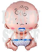 Фольгированный воздушный шар Новорожденный, 65 см