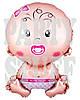Фольгированный шарик Новорожденная, 65 см