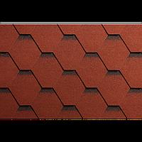 Битумная черепица Гонты орла,ICOPAL,Польша, Форма Трапеция,Красный с черной тенью СМ2