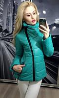 Женская осенняя куртка плащевка на синтепоне