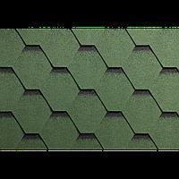 Битумная черепица Гонты орла,ICOPAL,Польша, Форма Трапеция,Зеленый с черной тенью СМ4