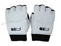 Перчатки для тхэквондо и ММА, размеры: S, M, L, XL, черный с белым.
