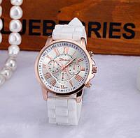 Часы женские наручные силиконовые Geneva белые
