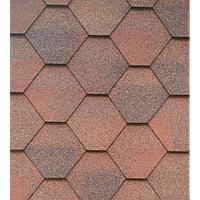 Битумная черепица Гонты орла,ICOPAL,Польша, Форма Трапеция,Красный тучка СМ5