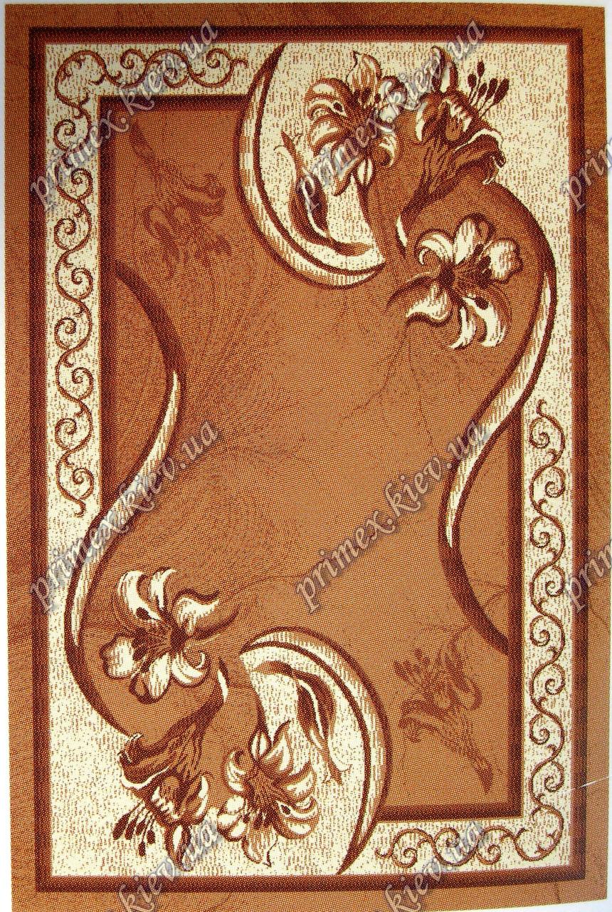 """Рельефный ковер Кадиллак """"Барбара"""", цвет коричневый"""
