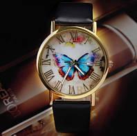 Женские часы с бабочкой черные