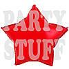 Фольгированные шарики Звезда, красный 44 см