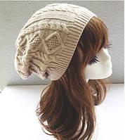 Стильная шапка Бежевый цвет