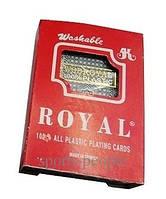 Карты игральные №988 для покера, пластиковые 1 колода, 54 карты