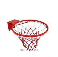 Кольцо баскетбольное Ø45 см, красный цвет
