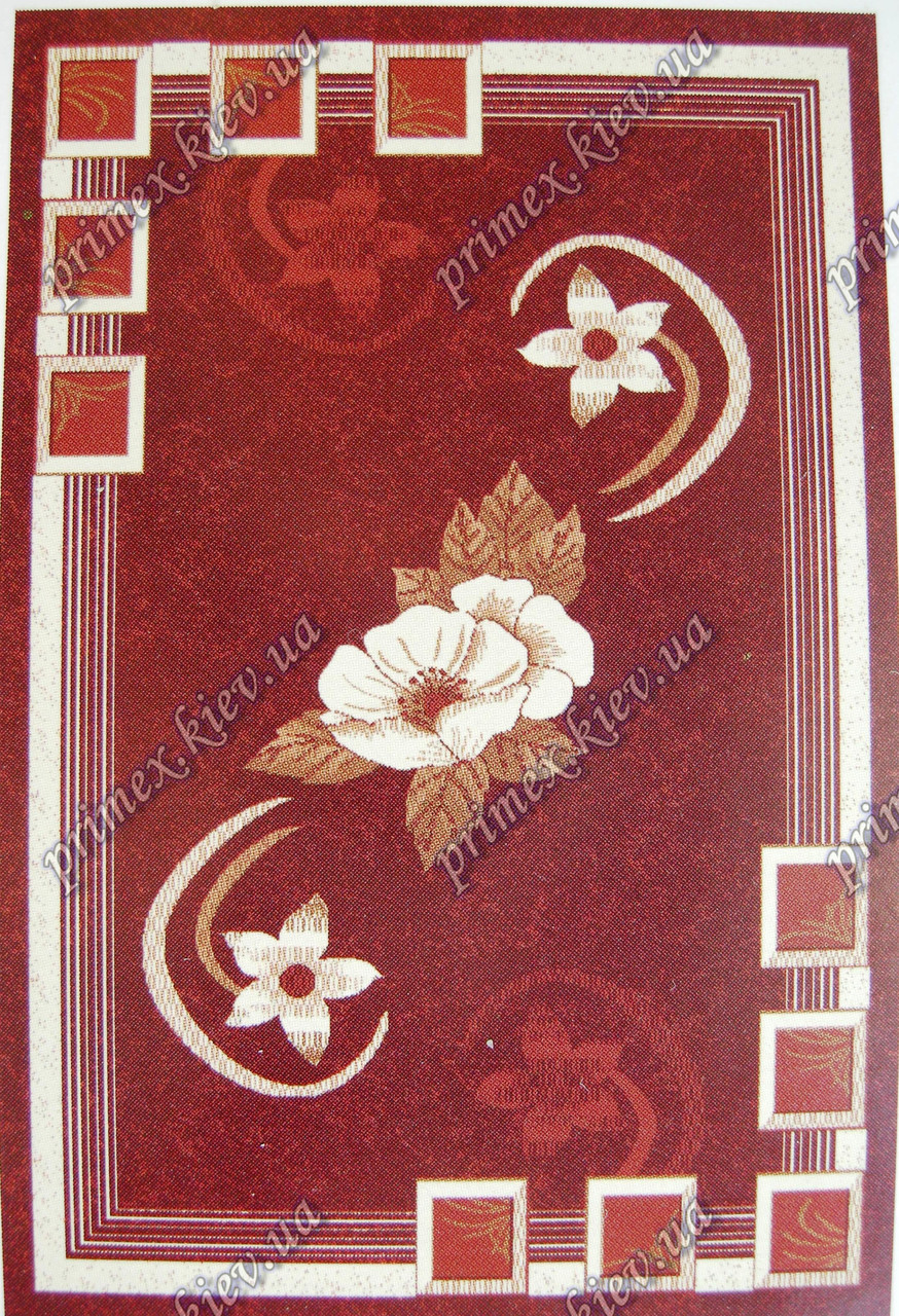 """Рельефный ковер Кадиллак """"Рита"""", цвет красный"""
