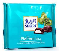 Молочный шоколад Ritter Sport Pfefferminz c ментолом