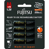 Аккумуляторы FUJITSU, AA, 2450 mAh, Ni-MH (HR-3UTHC),уп.4шт