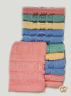 Полотенце банное Версаче-3 розовое
