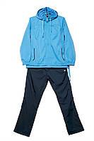 Спортивный плащевый костюм Billcee голубой флис (батал)