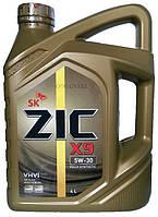 Моторное масло синтетика ZIC X9 5w30 4л