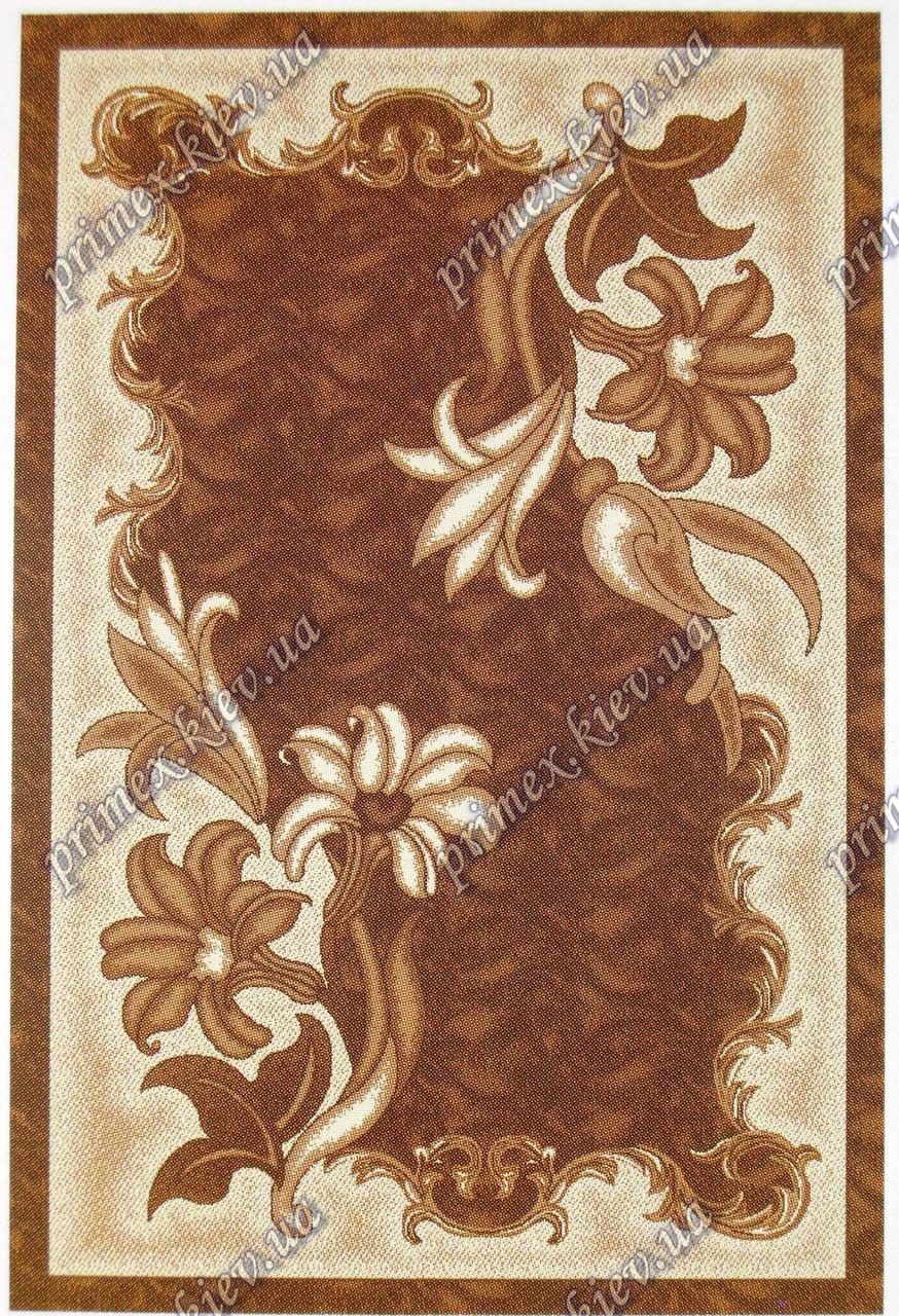 """Рельефный ковер Кадиллак """"Гильда"""", цвет коричневый"""