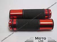 Грипсы, ручки руля (красные) GXmotor