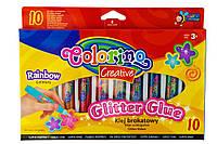 COLORINO Клей с блестками 10 цветов Rainbow