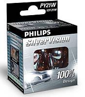 "Автомобильные лампы ""PHILIPS"" PY21W SILVER VISION"