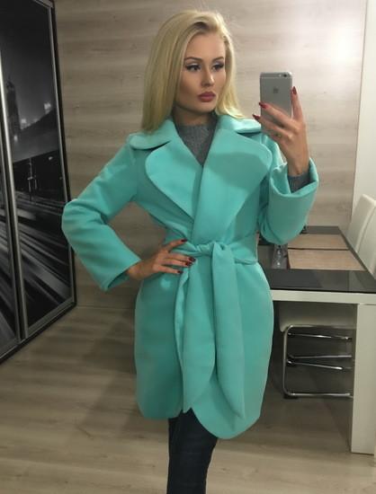 Пальто женское кашемировое с закругленными лацканами /разные цвета, 42-46, ft-293/