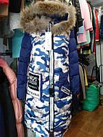 Трендовая зимняя куртка с мехом 3 цвета
