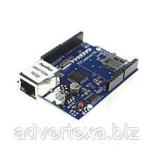 Сетевой модуль Ethernet Shield W5100 для Arduino Uno, Mega, Due. Плата расширения, веб сервер.
